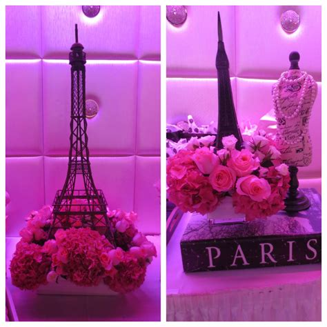 paris themed centerpieces flowers by butterfly floral in los angeles french bridal