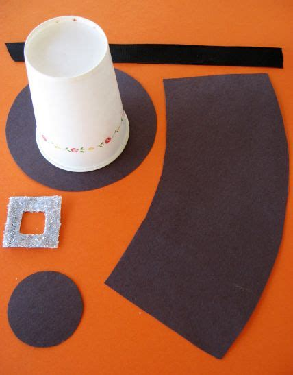 How To Make Pilgrim Hats From Paper - pilgrim hats thanksgiving craft