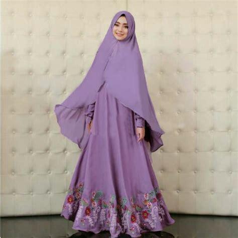 model gamis syari modern terbaru fashion hijab cewek