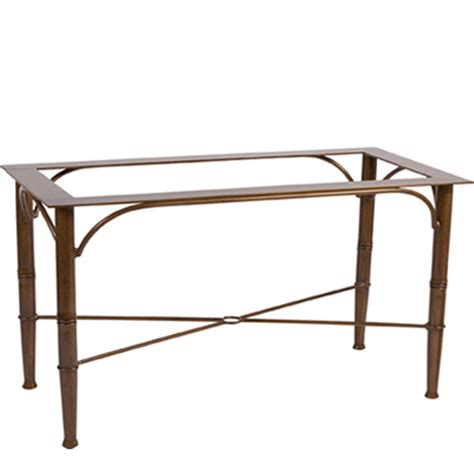 Dining Table Base Only Woodard 597200 Arkadia Cushion And Sling Large Dining Table Base Only Discount Furniture At