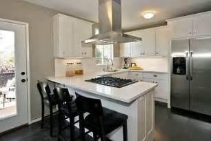 u shaped kitchen designs with breakfast bar interior