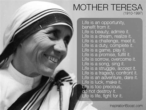 biography of mother teresa for students mother teresa quotes on life quote addicts
