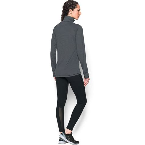 armour womens black steel stripe tech  zip