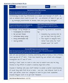 individual development plan template 35 development plan sle free premium templates