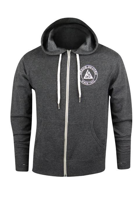 Hoodie Jiu Jitsu Station Apparel gracie academy classic jiu jitsu zip up hoodie charcoal