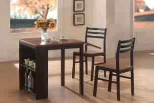 Kitchen Breakfast Table Sets 3 Breakfast Table Set In Black Walnut Casual