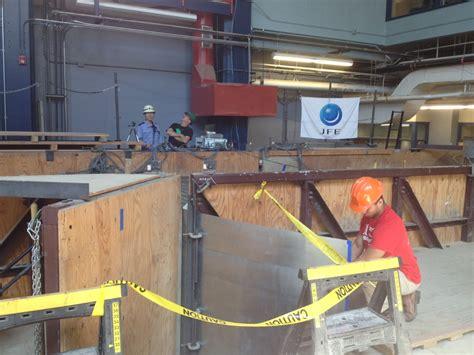 earthquake simulation cornell researchers conduct earthquake simulation test