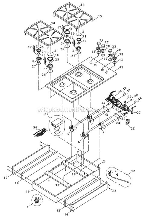 dacor cooktop replacement parts dacor sgm364 parts list and diagram before mf0000000