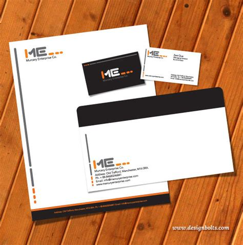 free business card letterhead template free vector printable stationery design template