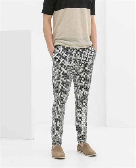 zara geometric print trousers s fashion prints screens