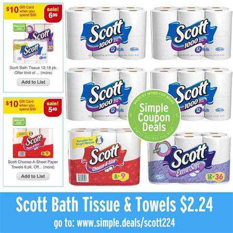 scott bathroom tissue coupon scott bath tissue paper towels 2 24 at cvs week of 6