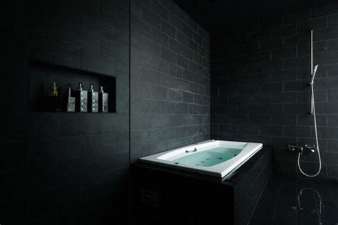 Black Bathroom Tile Ideas 19 Almost Black Bathroom Design Ideas Digsdigs