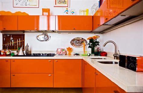orange cabinets kitchen