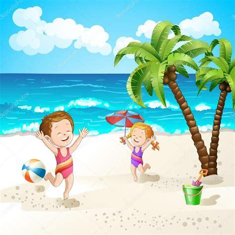 imagenes animadas verano playa de verano con estrellas de dibujos animados y