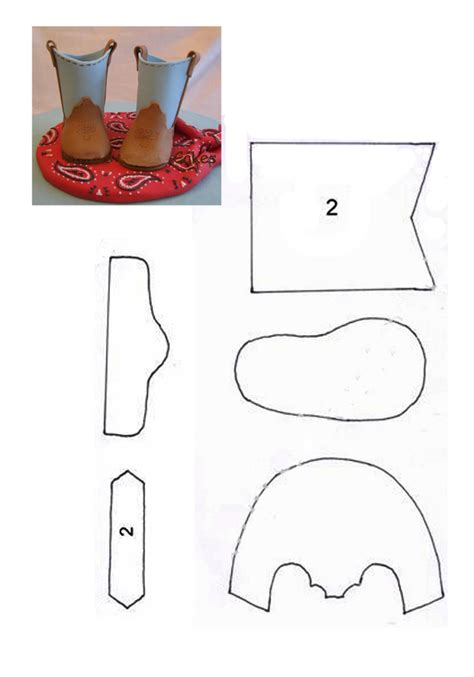 boot cake template 595px