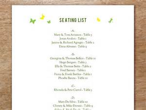 seating plan template garden party