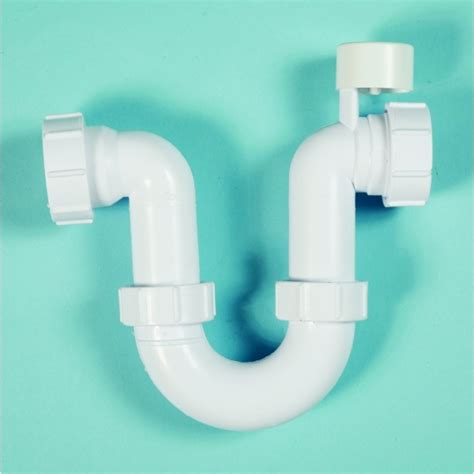 Plumbing Running Trap by Polypipe 32mm Running Trap 75mm Seal Anti Syphon White