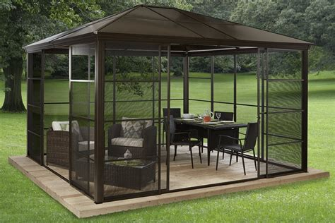 12x12 patio gazebo gazebo design glamorous 12x12 screened gazebo 12x12