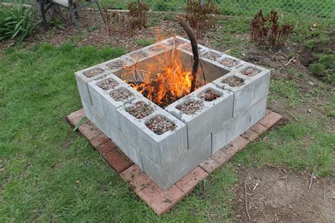 Block Firepit 15 Creative Ways To Use Concrete Blocks In Your Home And Garden