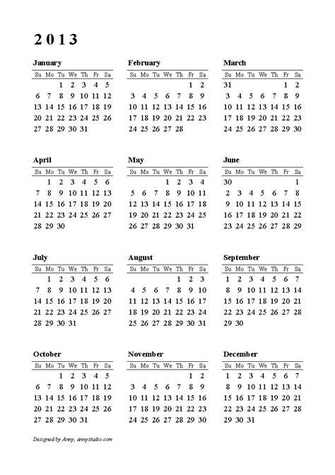 2013 Calendar Printable 2013 Calendar Printable 001a9 Yourmomhatesthis