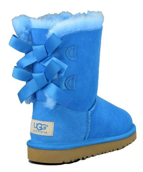 Light Blue Uggs With Bows by Ugg Boots Toddler Bailey Bow Blue Sky