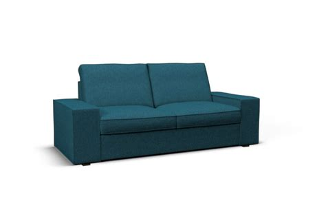 sofa seat covers kivik two seat sofa cover step melange turquoise blue by