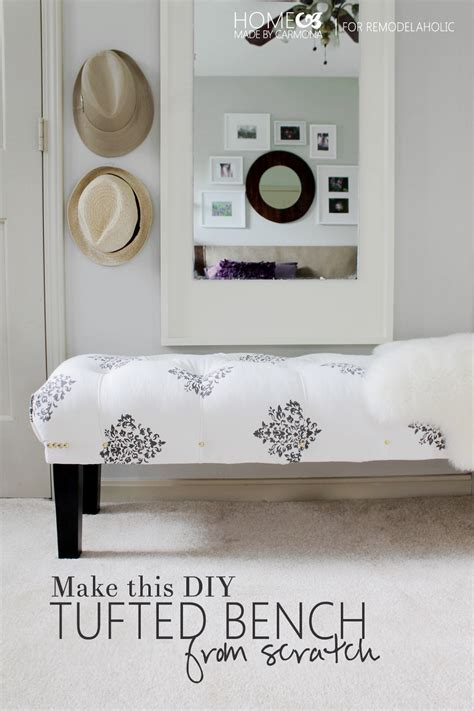 diy bedroom bench remodelaholic diy leather director s bench building plans