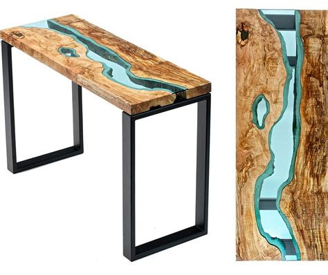 topography coffee table unique wooden tables embedded with glass rivers and lakes