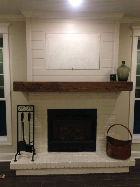 Fireplace Shiplap 1000 Ideas About Painted Brick Fireplaces On