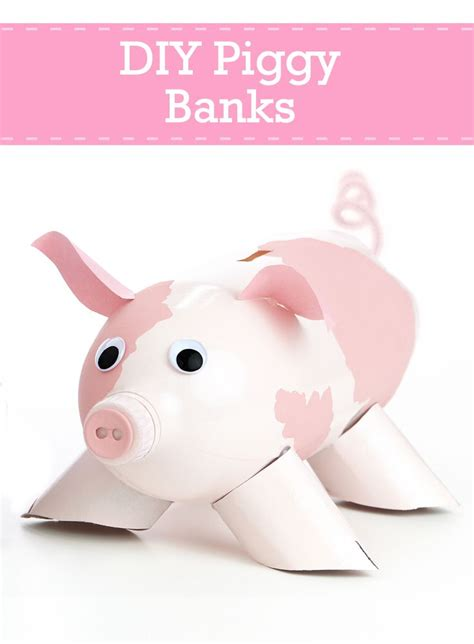 How To Make Paper Piggy Bank - make piggy banks from bottles http www pgeveryday