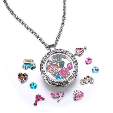 chic floating charms locket snap it chunk button for snap