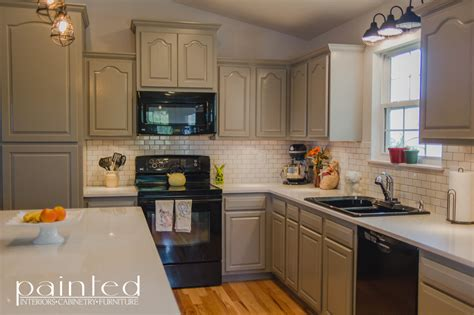 Kitchen Cabinet Paint Finishes Kitchen Cabinets In Old Monterey Gray Painted By Kayla Payne