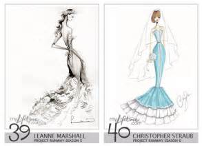Design Sketch For The re project runway designers wedding dresses for kate middleton