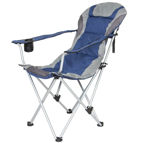 portable reclining beach chair deluxe padded reclining cing fishing beach chair with