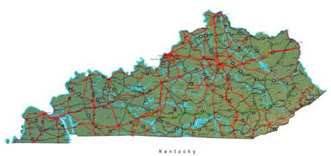 kentucky map detailed kentucky map maps of kentucky state