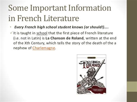 themes in french literature french literature the song of roland
