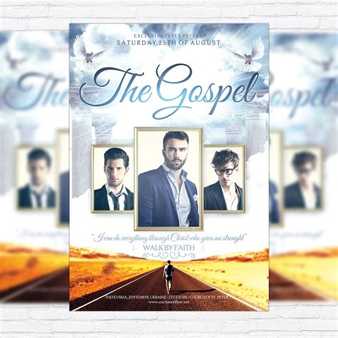 gospel flyer template the gospel premium flyer template cover