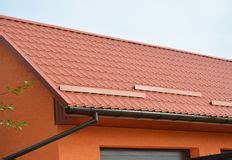 living in gutter pipeline modern house construction with metal roof gutter