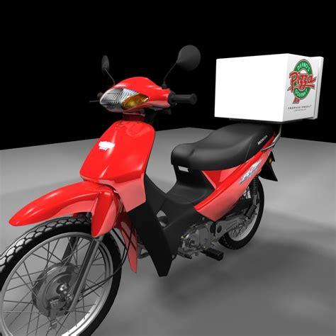 Moto 3d Model moto delivery 3d model