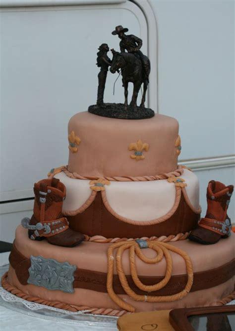 ideas of the western themed wedding cakes weddingelation