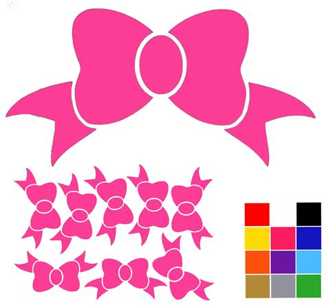bow decal bow wall stickers