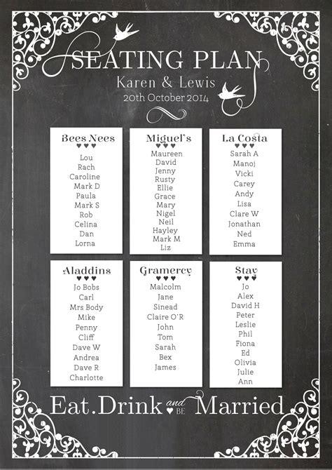board table plans chalkboard table plan 187 papergrace wedding stationery