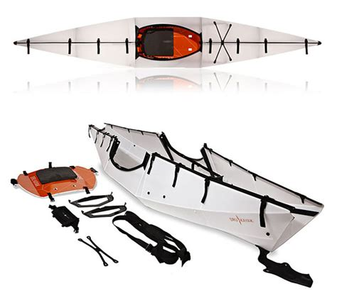 folding boat backpack oru kayak the origami folding boat hits kickstarter video