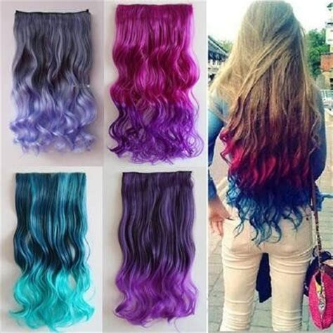 color hair extensions 1000 ideas about rainbow hair on