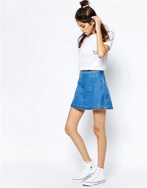 I See You Eyelet by See You Never Denim See You Never Denim Eyelet Skirt