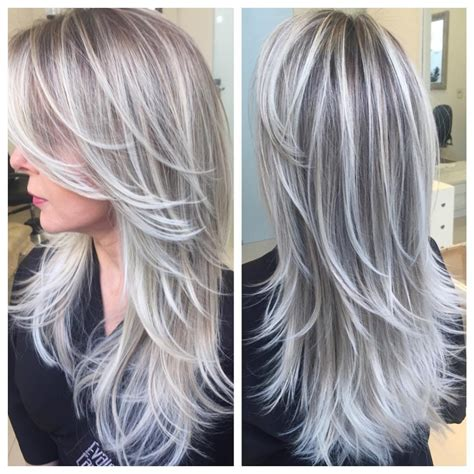 balayage cover gray hair i want the ends of my hair to look like this fantasy