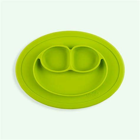 Ezpz Mini Mat In Lime shop our eat range for baby and toddler at kidly