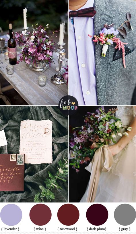 plum wedding colors plum and wine wedding colors for late autumn wedding