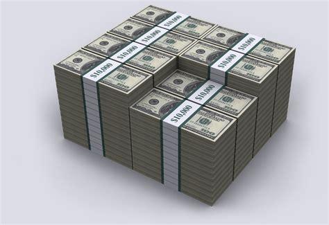 1 million dollar us debt visualized stacked in 100 dollar bills at 20