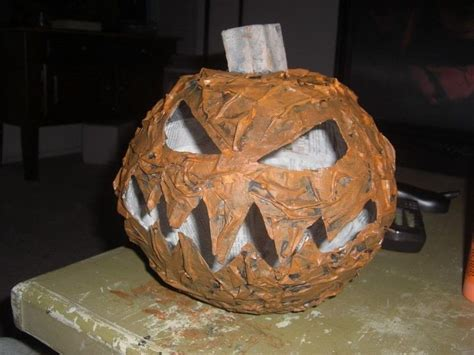 How To Make Paper Mache Heads - 32 paper mache pumpkin diy craft ideas guide patterns